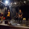 Les comédiens du TUM en répétion pour la pièce Des Robots. (Photo : Sarah Meira)