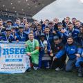 L'équipe de soccer masculine des Carabins a gagné le championnat du RSEQ pour la première fois depuis 2011 (Crédit: James Hajjar)