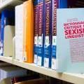 Le Dictionnaire critique du sexisme linguistique, réalisé sous la direction de Suzanne Zaccour et Michaël Lessard, traite du débat sur l'écriture inclusive,  entre autres sujets. (Photo : Laura-Maria Martinez)