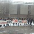 La manifestation de Désinvestissons UdeM a démarré à la Place de la Laurentienne. (Photo: Mylène Gagnon)