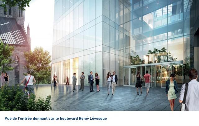 Une terrasse mènera au boulevard René-Lévesque. (Photo: Courtoisie HEC Montréal)