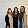 Marie-Jeanne, Camille et Sandrine ont toutes les trois été élues, le dimanche 25 mars, au sein du bureau exécutif de la FAÉCUM. (Photo: Félix Lacerte-Gauthier)