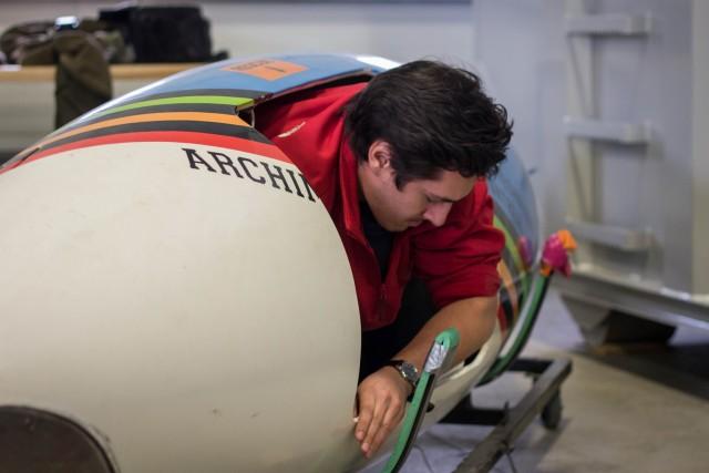 À l'été, l'équipe d'Archimède testera son sous-marin lors d'une compétition en Angleterre. Le submersible devra être maniable, alors que le parcours effectué comportera de nombreuses courbes. (Photos : Benjamin Parinaud)
