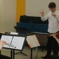 L'Ensemble de musique contemporaine de l'UdeM répète en vue du concert. (Photo: Mylène Gagnon)