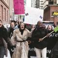 Des associations étudiantes sont tombées ponctuellement en grève l'an passé pour revendiquer la rémunération de tous les stages. Crédit photo : Martin Ouellet.