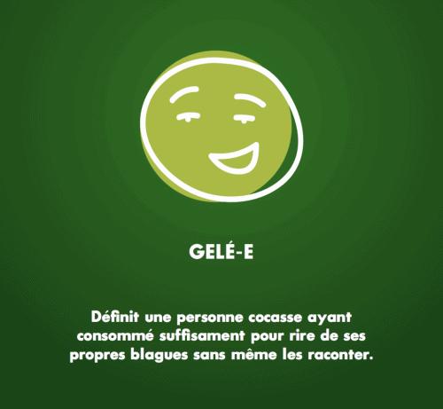 «Gelé-e» est la troisième phase d'intoxication au cannabis, selon le document «Le cannabis dans tous ses états» de la CADEUL. Image : courtoisie CADEUL.