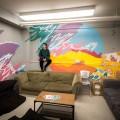 La dernière murale a pu être réalisée grâce à une bourse du Fonds d'amélioration de la vie étudiante (FAVE) pour la revitalisation des espaces communs. (crédit : Benjamin Parinaud)