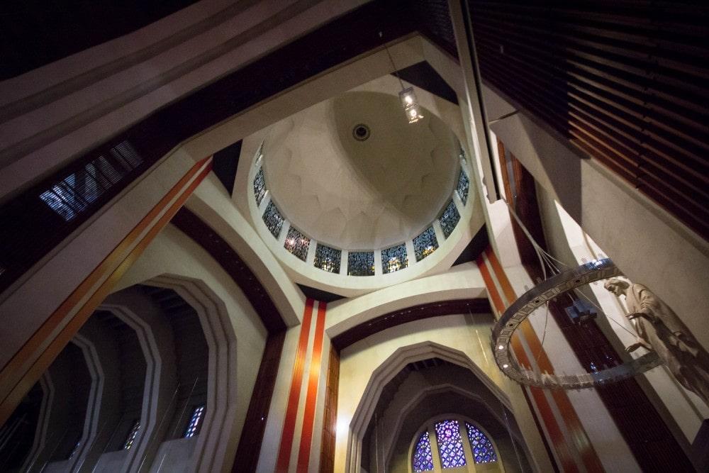 Il s'agit de la dernière étape de la rénovation de l'oratoire, débutée en 2006 (Crédit : Benjamin Parinaud)
