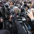La porte-parole de la manifestation, Safa Chebbi.