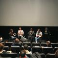 Zoé Gagnon-Paquin, Cédric Chabuel, Monique Simard et Mériol Lehmann  au Cinéma Moderne lors du Festival Résonance 2018 (Crédit Romeo Mocafico)