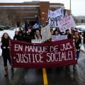 Au Québec, environ 58 000 étudiants étaient en grève pour la journée. Crédit photo : Zacharie Routhier.