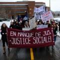Près de 54000 étudiants des Cégeps et de différentes facultés universitaires au Québec ont fait grève pour la rémunération des stages, selon ICI Radio-Canada. Photo : Zacharie Routhier.