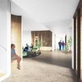 La maison est l'œuvre de la Fondation Véro & Louis, consacrée à l'hébergement permanent chez les adultes autistes depuis 2016. Sa conception a été confiée à l'Atelier Tag, dirigé par Manon Asselin. (Courtoisie Atelier TAG)