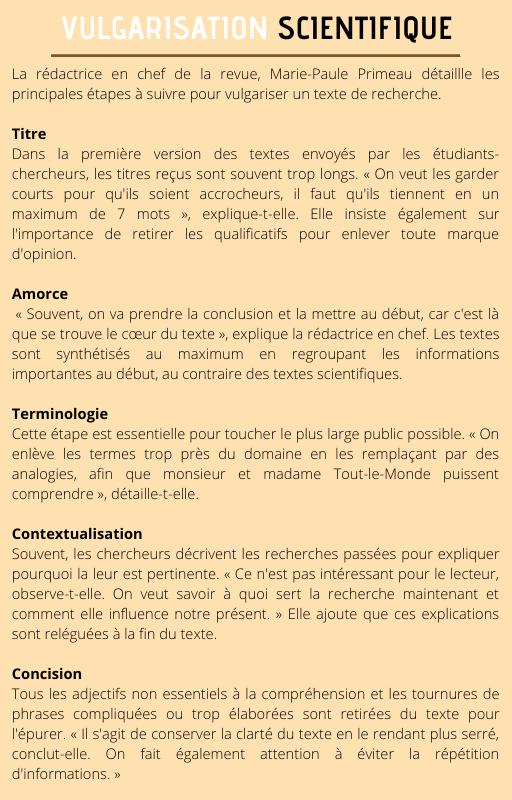 VULGARISATION SCIENTIFIQUE (1)