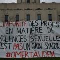 La campagne OmertàUdeM a été lancée en octobre 2018. Photo : Archives Quartier Libre.