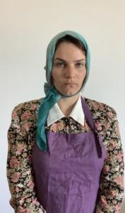 L'actrice Julie Tristant interprète une des femmes grévistes de Winnipeg. (Crédit photo : Julie Tristant)