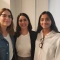 Raphaëlle Leclerc, Cindy Colombo et Jade Beltran (de gauche à droite) ont su ravir la faveur du jury grâce à leur projet nommé Tricycle et son design misant sur la simplicité. Crédit : Guy Epassy