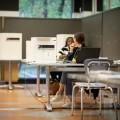 Quatre bureaux de scrutin ont été installés sur le campus de l'UdeM pour permettre à la communauté étudiante de voter, quelle que soit leur circonscription. Photo : Jacob Côté.