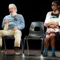 Les comédiens Luc Morrissette et Tracy Marcelin interprètent la pièce La peine des jours, mise en scène par Olivier Sylvestre. Crédit : Daniel Marleau