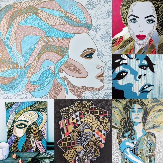 Des toiles de la peintre Isabelle Langlois seront exposées à l'évènement du 6 décembre. Celles-ci se veulent un hommage artistique à la résilience des femmes. Art original : Isabelle Langlois