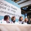 Le 4 février, la création de la CEVES a été annoncée à l'UQAM en conférence de presse. Crédits : Jacob Côté