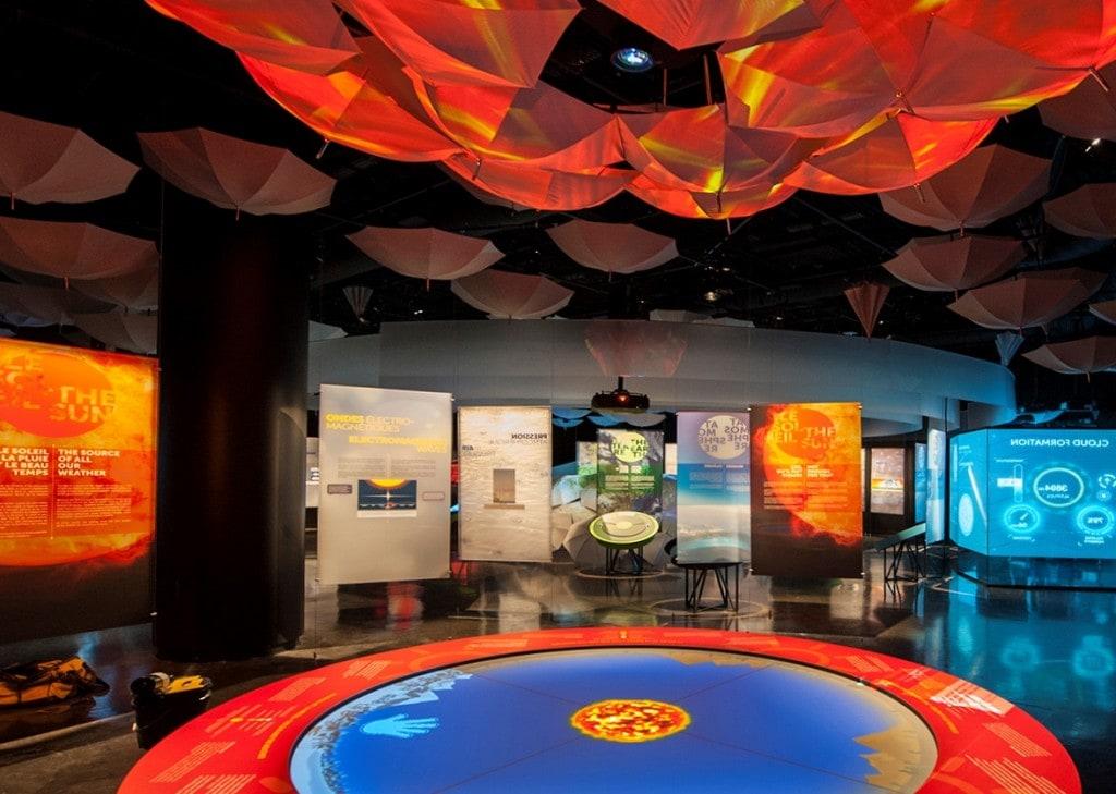 L'exposition «Ceci n'est pas pas un parapluie», présentée à la Biosphère, aborde le rôle de la météorologie de nos jours. Crédit photo: Courtoisie La Biosphère, Musée de l'environnement